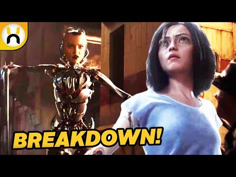 Alita: Battle Angel Official Trailer BREAKDOWN