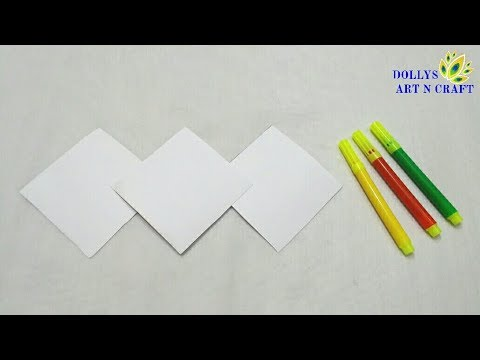 Paper Art | DIY Beautiful Paper Stick Flower | Simple & Easy Flower with Coloured Paper