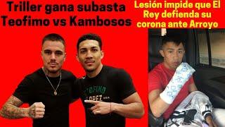 Triller gana subasta de Teofimo vs Kambosos / Julio Cesar Martrinez no peleará en Miami