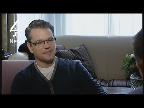 Matt Damon on Hollywood, healthcare and the 1% | Channel 4 News