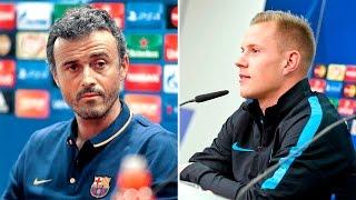 Baixar Rueda de prensa de Ter Stegen y Luis Enrique (FC Barcelona - Arsenal)