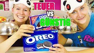 Teuer vs günstig BLIND ICE CREAM CHALLENGE | Eis erraten mit Nina & Kathi | Spiel mit mir deutsch