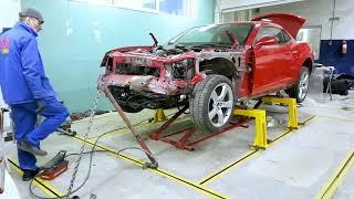 CAMARO PROJECT - ПОЛНОЕ восстановление автомобиля после ДТП.  Серия третья: Стапельные работы