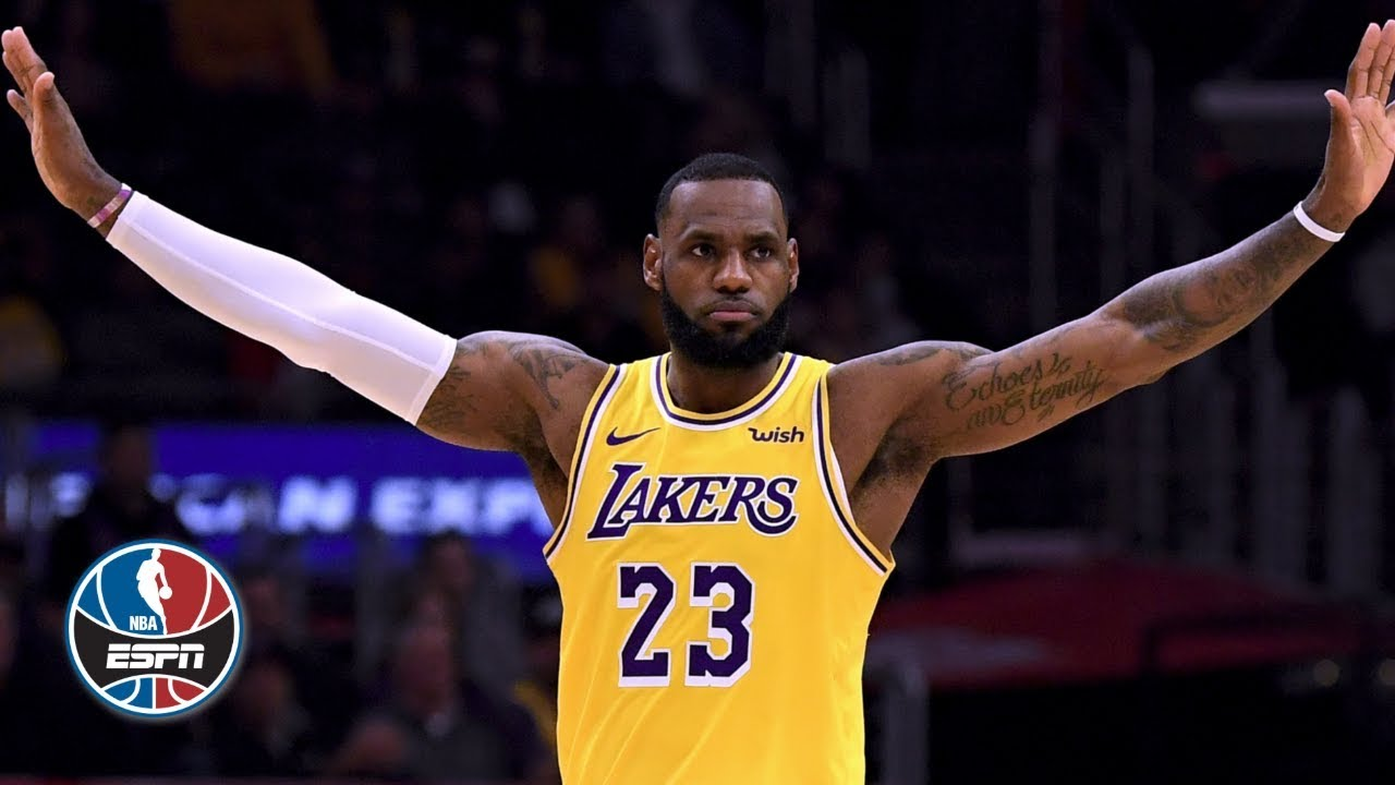 8c1b01c35428 LeBron James  near triple-double in return drives Lakers to OT win vs.  Clippers