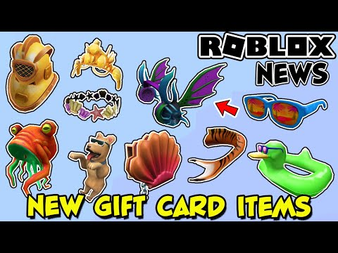 Roblox News New Free Items With Gift Cards Youtube
