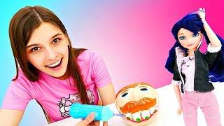 Маринетт лечит зубы! Куклы Леди Баг - Видео для девочек. Ох, уж эти куклы