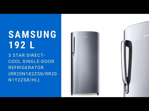 Samsung 192 L 3 Star Direct-Cool Single-Door Refrigerator (RR20N182ZS8/RR20N1Y2ZS8/HL)