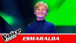 """Esmaralda   """"Landet"""" af Marie Key   Blind 1   Voice Junior Danmark 2016"""