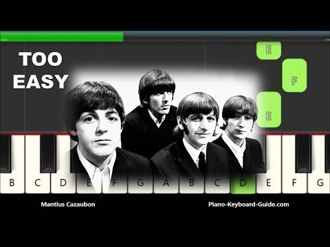 The Beatles Yesterday Slow Very Easy Piano Notes
