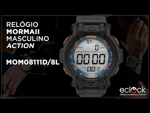 e8cc4b7eb Relógio Mormaii Masculino Action MOM08111D/8L - Eclock - Eclock ...