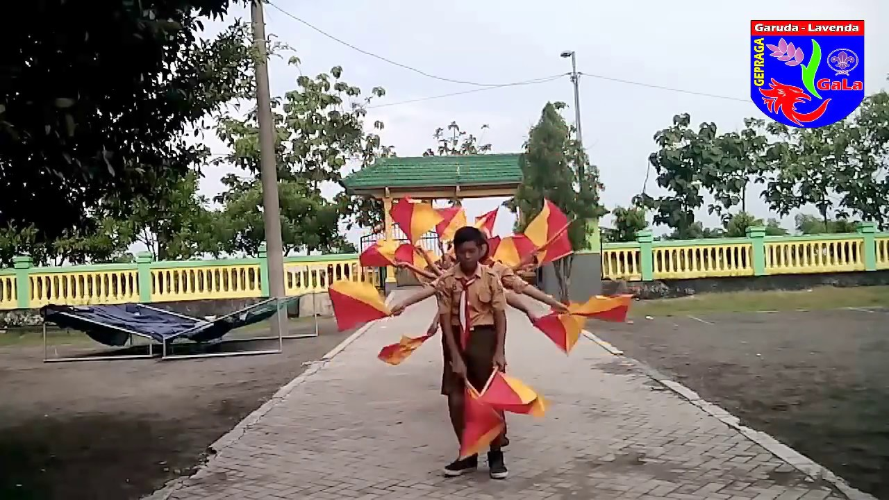 Tari Semaphore Terbaik Ver Latihan Youtube Bendera Dan Tongkat Semapore