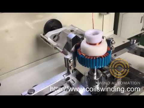 Outrunner Brushless stator winding machine for muti wires aircraft model motors  Wind Automation