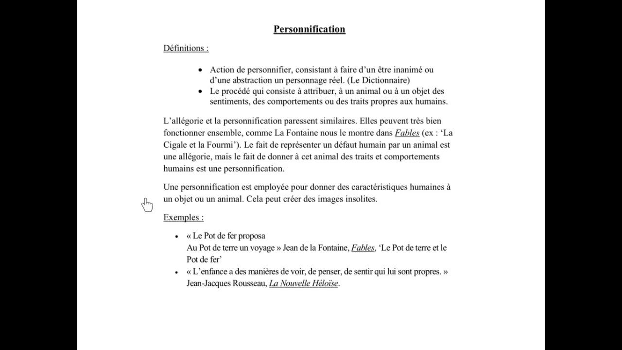 Exemple De Personnification D Un Animal - Exemple de Groupes