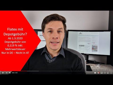 Flatex mit Depotgebühr ab 1.3.2020? Nur in Deutschland! In Österreich weiterhin KEINE Depotgebühr!
