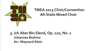 tmea all state mixed choir 2013 ich aber bin elend