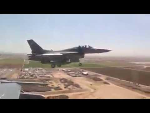 F-16 Fighter jets preflight landing 2017