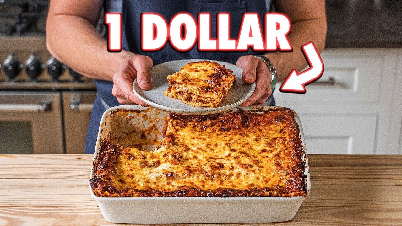 1 Dollar Lasagna But Cheaper