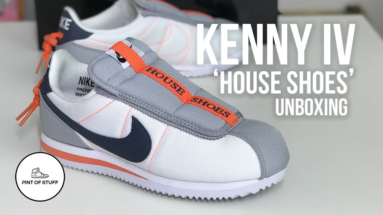 save off 263eb e5cb9 Nike Cortez Kenny IV House Shoes Sneaker Unboxing with SJ