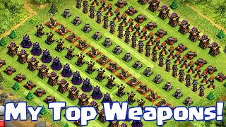"""""""MY TOP BEST WEAPONS in Clash of Clans"""" (Top 5 series)"""