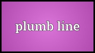Plumb line Meaning