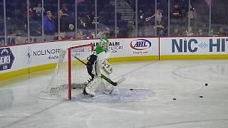 Markham Thunder goalie Elizabeth Knox warms up 2/23/19