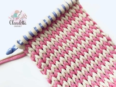 TUNISIAN KNIT STITCH CROCHET / BEGINNER