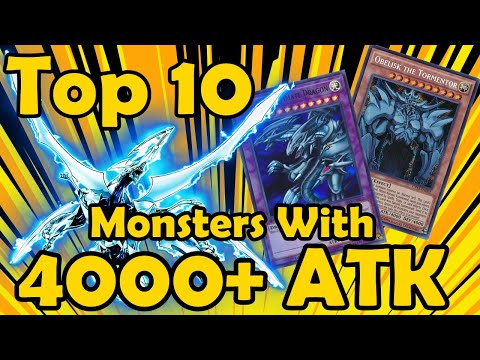 Top 10 Monsters With 4000 Or More Attack in YuGiOh