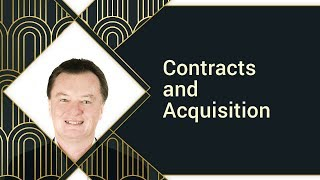 Contracts and Acquisition