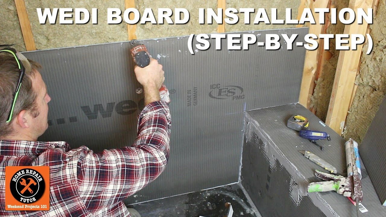 wedi board installation for fundo primo shower step by step