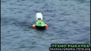 Кораблик для рыбалки - завоза прикормки Видео тест.