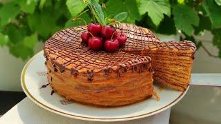 На СКОВОРОДЕ Медовый Карамельный торт Медовик без духовки