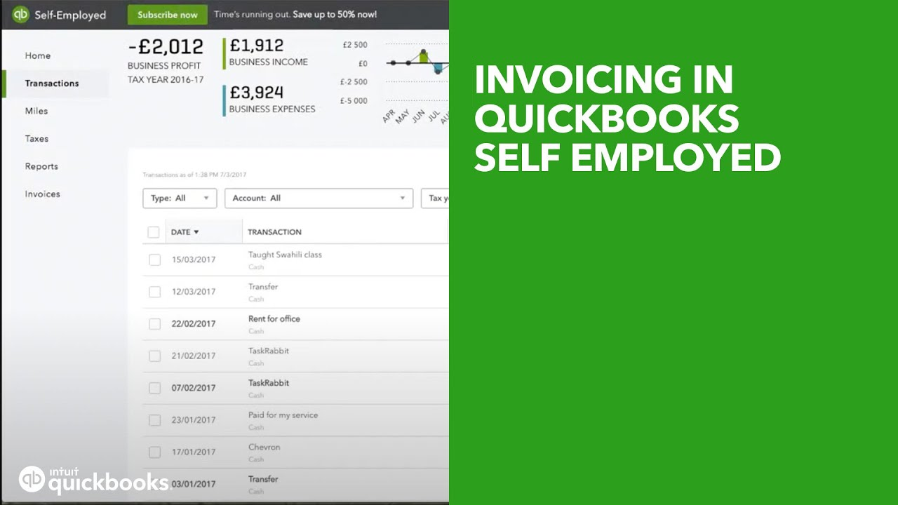 Invoicing in QuickBooks Self Employed (UK Edition)