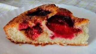 Сливовый пирог - очень простой рецепт