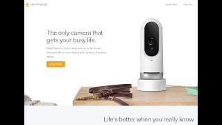 Lighthouse AI & 3D Smart Home Security Camera at SXSW 2018 Interview & Unboxing
