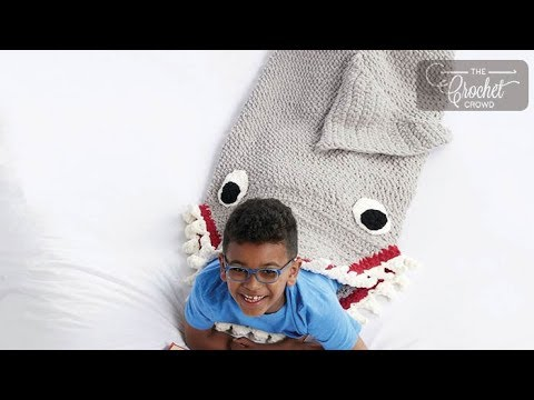 b70710ffaf Crochet Shark Snuggle Blanket - YouTube