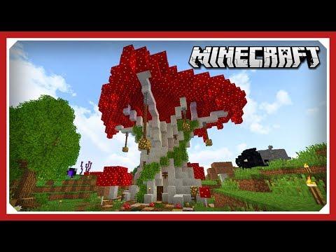 Minecraft E142: Mushroom Farm In Giant Mushroom! | 1.13.1 Vanilla Data Pack Survival Single-player