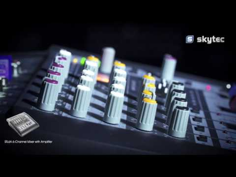 Skytec STL6A 6-Channel Mixer with Amplifier SD/USB/MP3/DSP 172.572