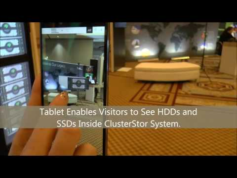 CES 2017: Enterprise Zone: Inside ClusterStor using augmented reality