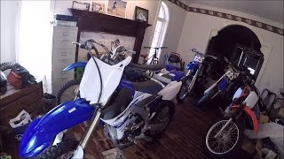 my dirt bike room tour