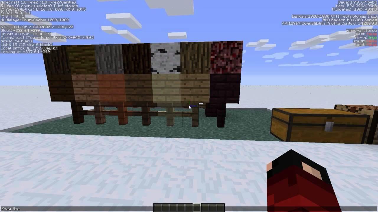 c mo hacer vallas en minecraft 1 8 youtube. Black Bedroom Furniture Sets. Home Design Ideas