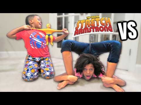 Thumbnail: STRETCH ARMSTRONG vs SHASHA + TASTING NINTENDO SWITCH CARTRIDGES