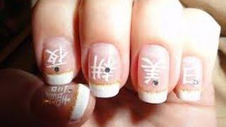 Рисование иероглифов на ногтях