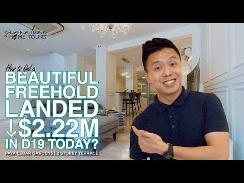 Singapore Landed Property   Beautiful Freehold Inter Terrace $2.28M Paya Lebar Gardens Jalan Usaha
