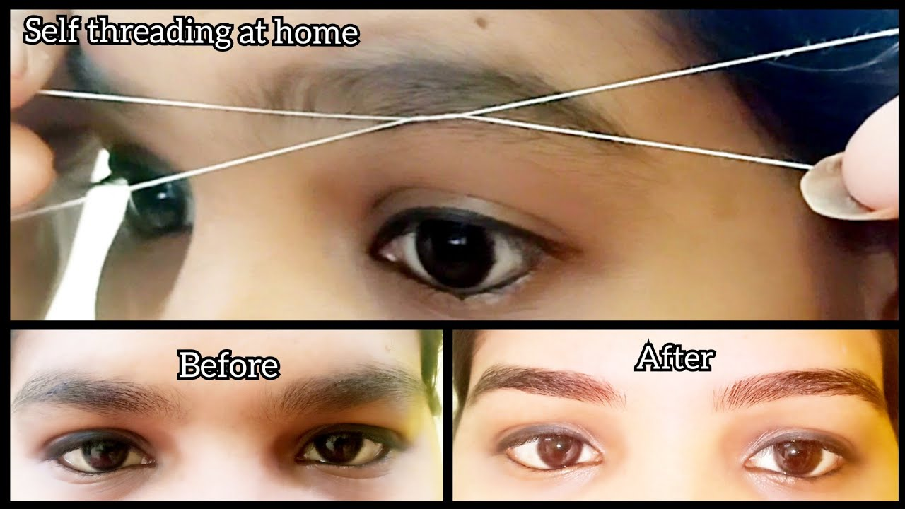 Lock down DIY:self eyebrow threading at home/how to do ...