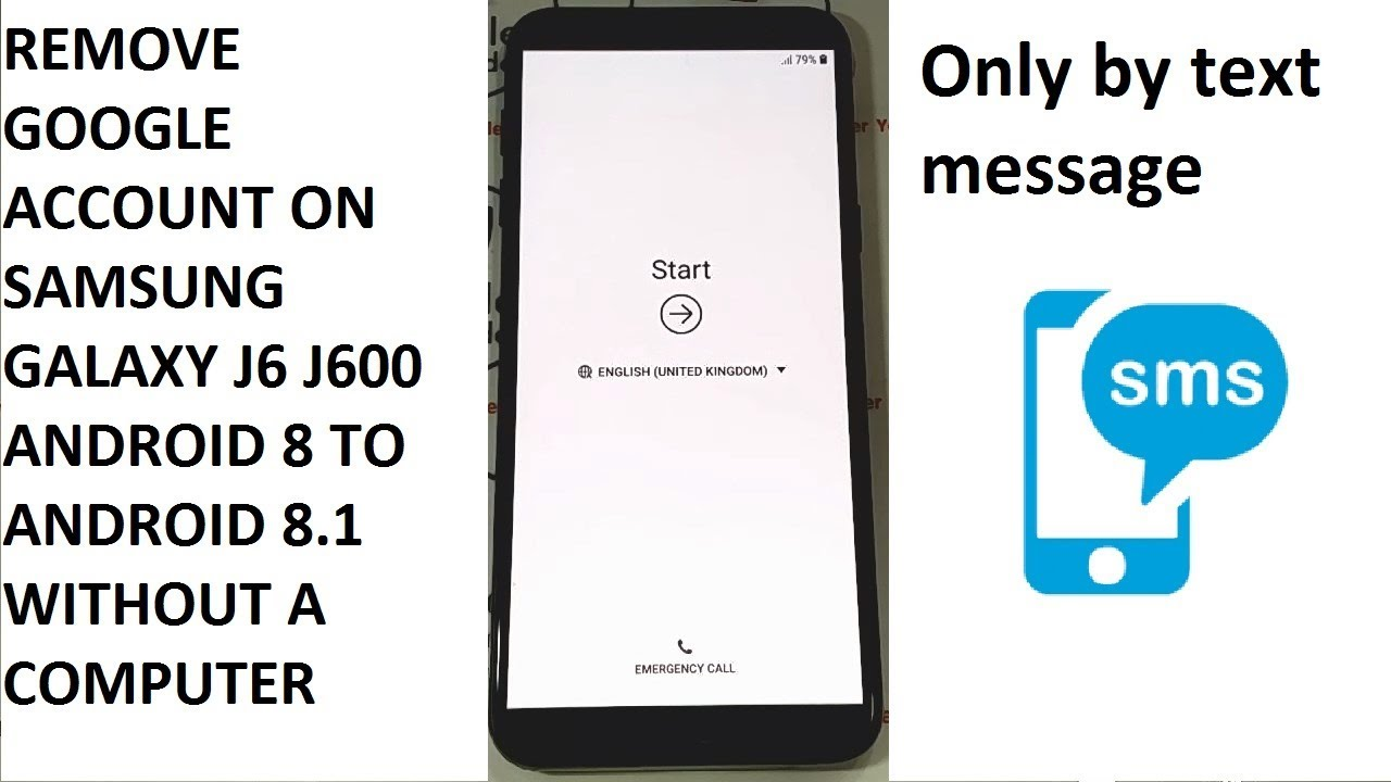 REMOVE GOOGLE ACCOUNT ON SAMSUNG GALAXY J6 J600F J600FN J600GN J600G  ANDROID 8 WITHOUT A COMPUTER