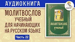 Час третий. Молитвослов учебный для начинающих. На современном русском языке. Часть 22. Аудиокнига.