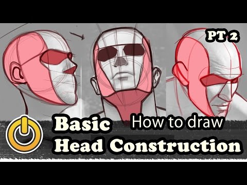 How To Draw Basic Head Construction Pt 2/2