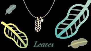 주얼리 디자인 일러스트레이터(나뭇잎 목걸이)Jewelry Design-Leaf Necklace(Adobe I…