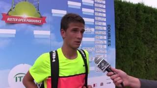 Vít Kopřiva po prohře v prvním kole na turnaji Futures v Pardubicích