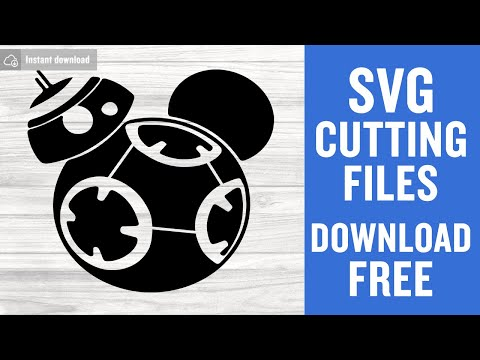 Bb8 Mickey Svg Free Cut Files For Silhouette Cameo Instant Download
